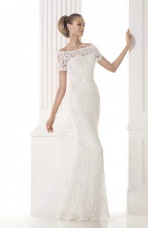 Vestido de noiva com tule bordado